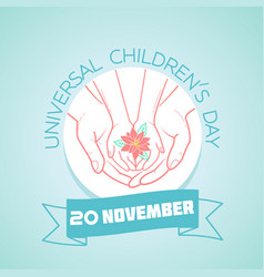 20 november childrens day vector image