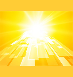 abstract sun gate yellow perspective geometric vector image