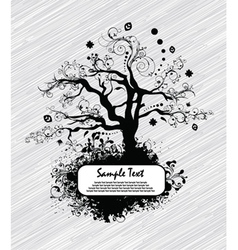 Abstract tree with grunge vector