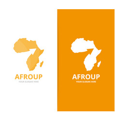 Africa and arrow up logo combination vector