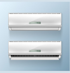 Air conditioners isolated vector