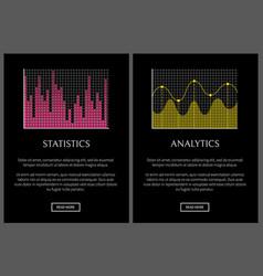 analytics and statistics black vector image