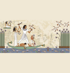 ancient egypt banner vector image