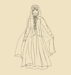 Arab woman traditional costume vector