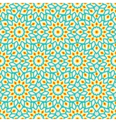 Arabic ornament with abstract flowers vector