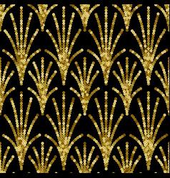 art deco golden sequin seamless pattern gatsby vector image