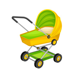 Bacarriage for newborn transportation isolated vector
