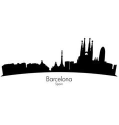 barcelona spain skyline vector image