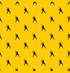 baseball player with bat pattern vector image