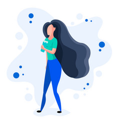 beautiful dynamic girl with water young woman vector image