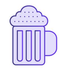 beer mug flat icon beverage violet icons in vector image