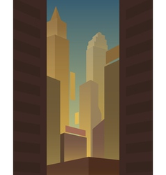 Big city background vector image
