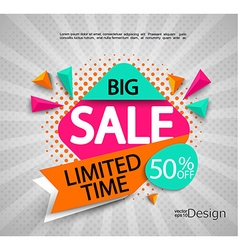 Big Sale - limited time vector image