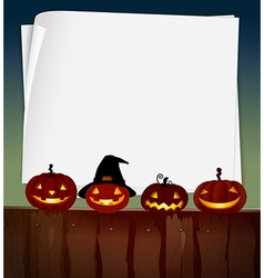 Blank paper with halloween theme background vector