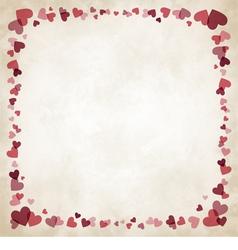 Border hearts vector