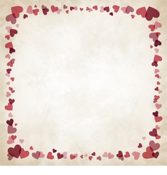 Border of hearts vector image