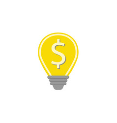 Business idea flat icon finance and business vector