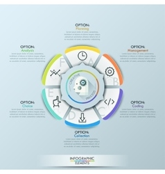 Business Infographics circle origami style vector