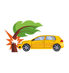 car insurance and crash risk vector image