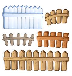 Cartoon fences collection vector
