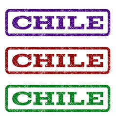 Chile watermark stamp vector