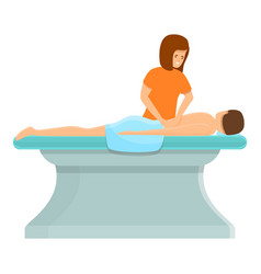 chiropractor masseur icon cartoon style vector image