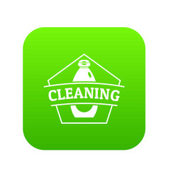 cleaning bottle icon green vector image