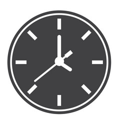 clock solid icon time and website button vector image