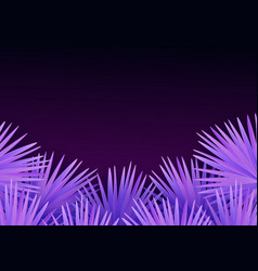 colorful modern with tropical palm leaves and vector image