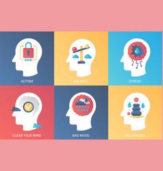 Concept autism balance stress clear mind vector