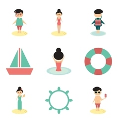 Concept flat icons on white background people vector