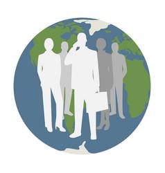 concept global business symbol vector image