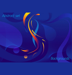 Concept line and wave background vector