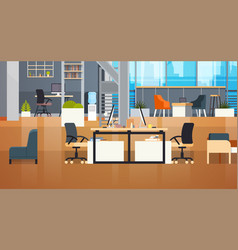 coworking office interior modern coworking center vector image