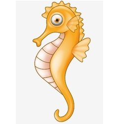 Cute Seahorse Cartoon vector image