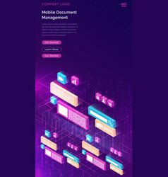 Document manager business isometric concept vector