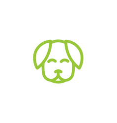 dog care silhouette head healthy pet mono line vector image