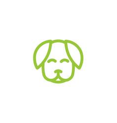 dog care silhouette head healthy pet mono line vector image