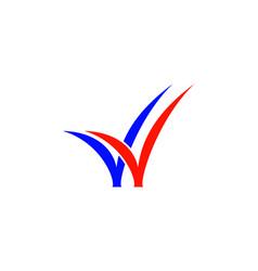 Double check logo vector