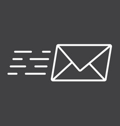 email marketing line icon seo and development vector image