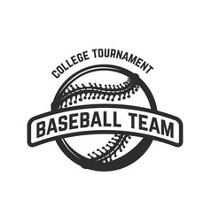 emblem with baseball ball design element for logo vector image vector image
