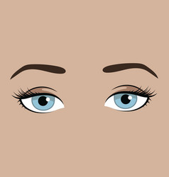 female eyes with emotion look girl vector image
