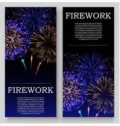fireworks festival bursting in various shapes vector image