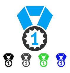 First place medal flat icon vector