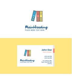 flat files logo and visiting card template vector image