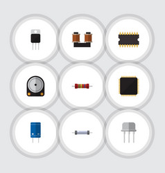 Flat icon technology set of resist resistance vector