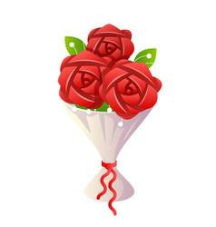 flower bride bouquet icon cartoon design vector image