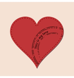 heart and postmarks vector image