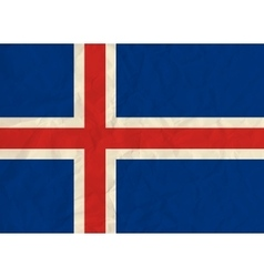 Iceland paper flag vector