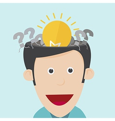 idea concept with open the human head vector image
